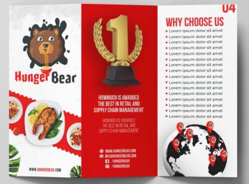 Food Brochure Mockup