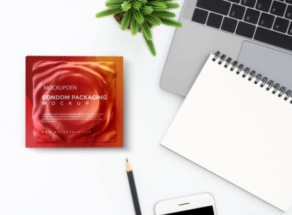 Free Condom Packaging Mockup PSD Template