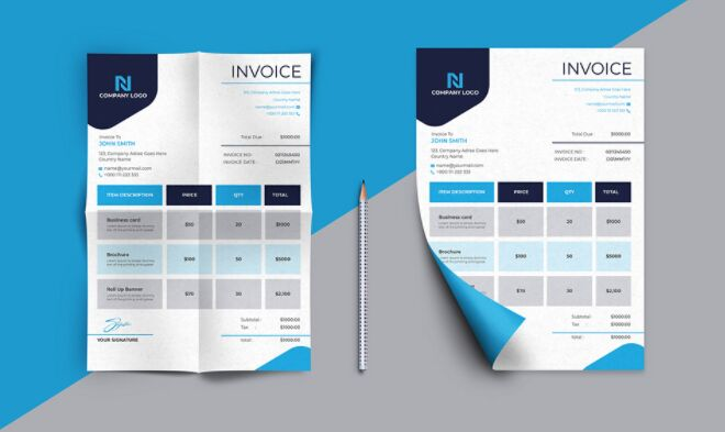 Invoice & Letterhead Template Design
