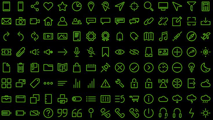 120 Stroke Icons
