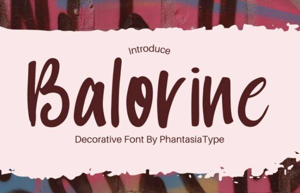 Balorine Font