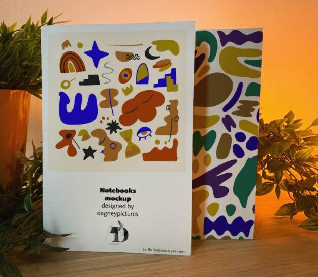 Beautiful Notebooks Mockup PSD