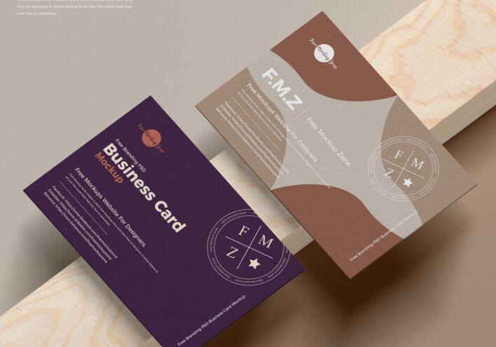 Free Branding PSD UK Size Business Card Mockup