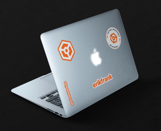Macbook Stickers Mockup
