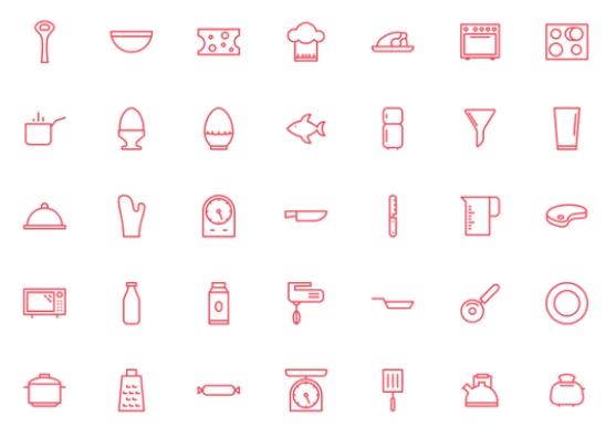 35 Kitchen SVG Icons