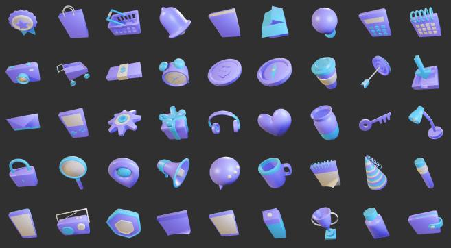 3D Sleek Illustration Pack Elite Style