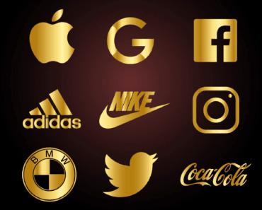 9 Gorgeous Golden Famous Brand Logos For Adobe Illustrator
