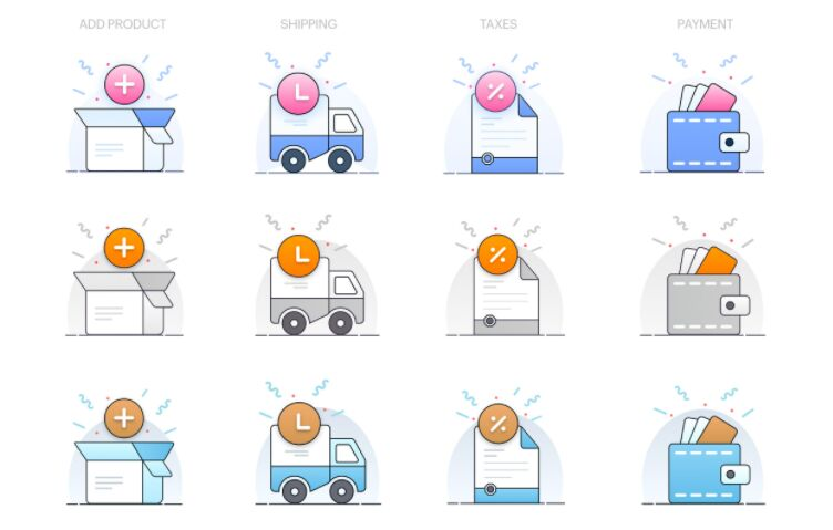 E-commerce Illustrations Sketch