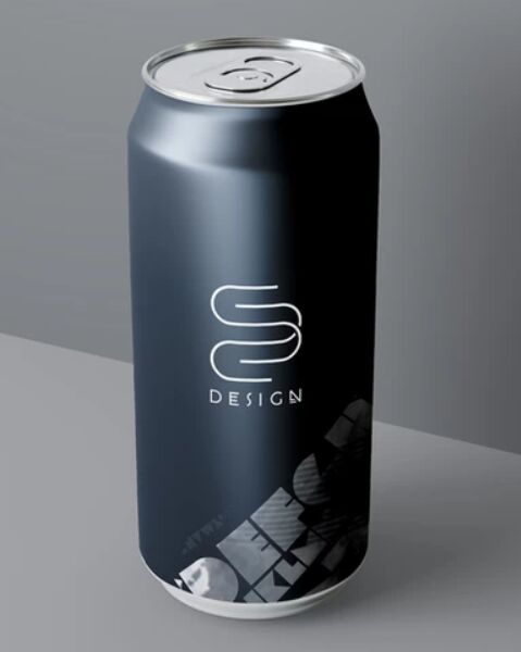 Soda Beer Can Mockup