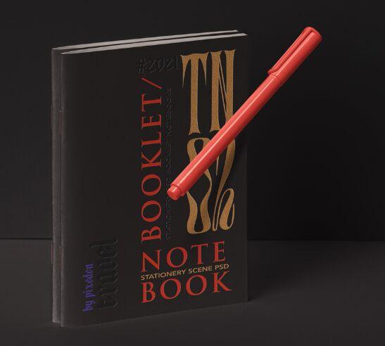 Stationery Psd Notebook Mockup Set