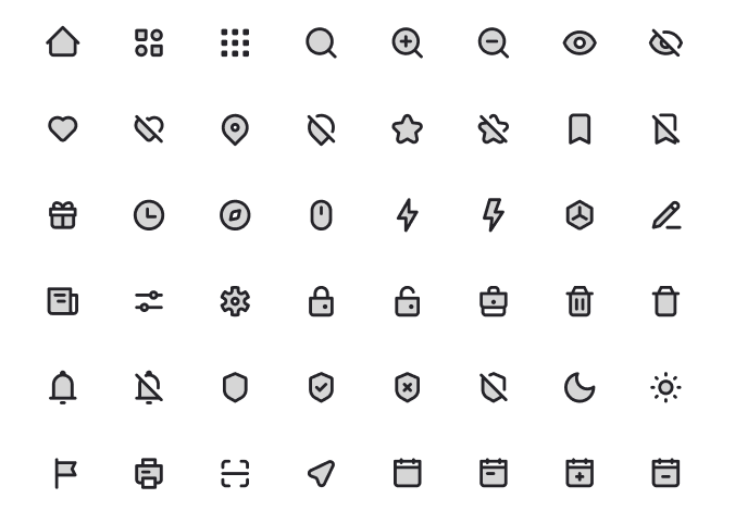 1500+ UI Icons In 5 Styles Duotone