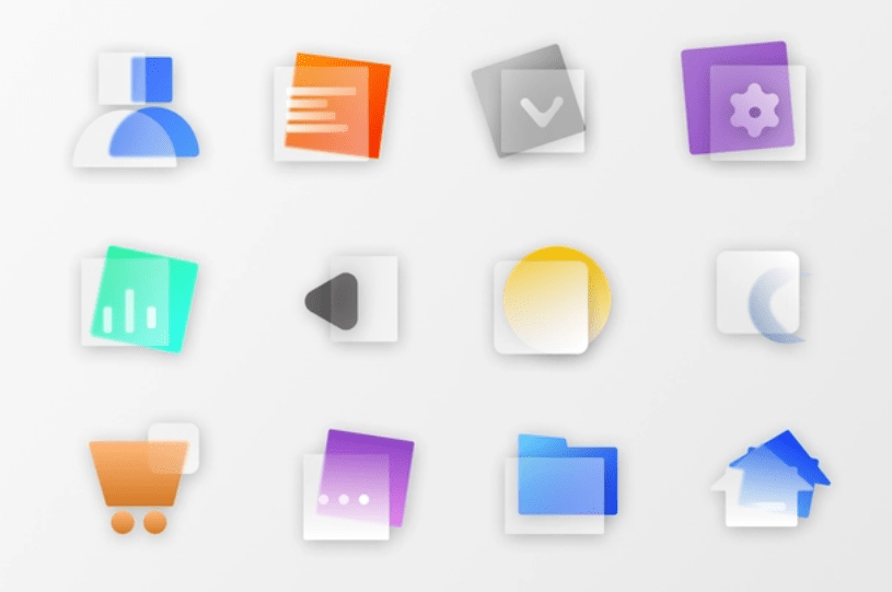 24 Glassmorphism Style Icons (PNG & SVG)
