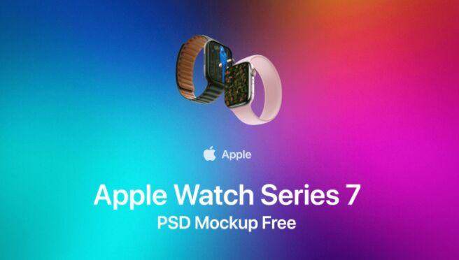 Apple Watch Series 7 Mockup PSD Free