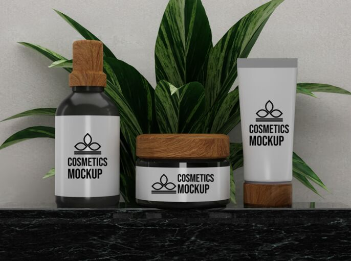 Cosmetics Product Branding Design Mockup