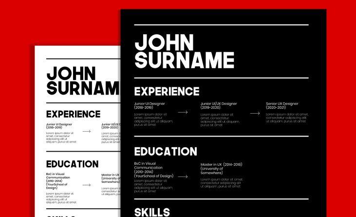 Freebie Resume CV Design For Figma