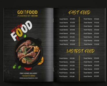 Restaurants Brousher Design Free Download