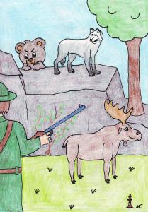 10 Das Märchen von Wolf, Bär und Elch
