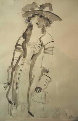 Rustam Khamdamov Watercolor
