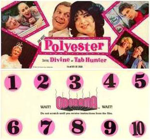 Polyester scratch n' sniff card