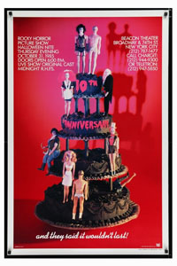 Rocky Horror Picture Show Rare 10th Anniversary Poster