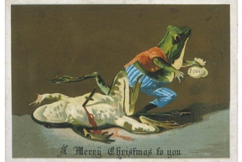 Weird Christmas postcards