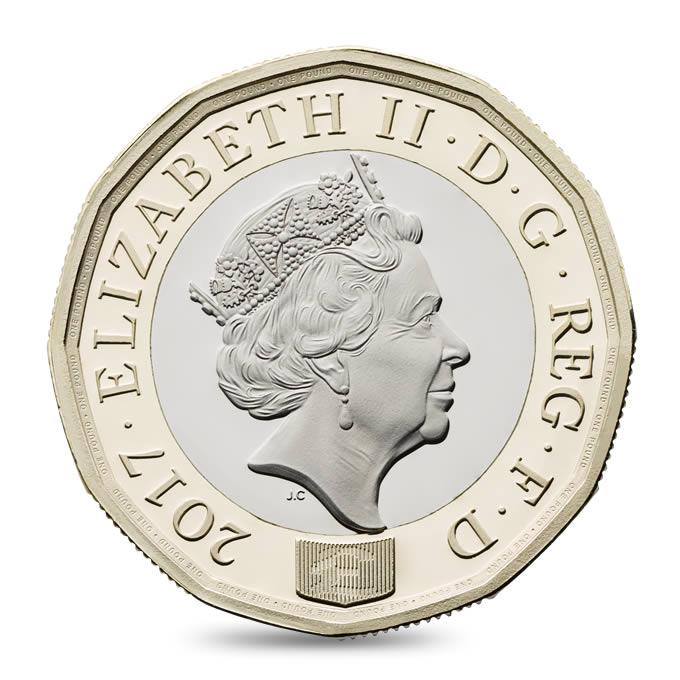 Новая однофунтовая монета запущена вобращение вСоединенном Королевстве