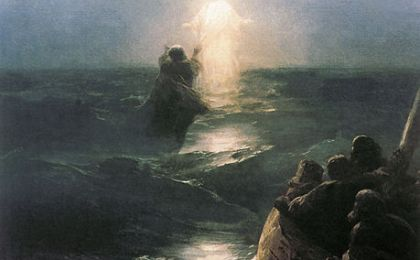 Ivan Aivazovsky's dipinto camminare sull'acqua