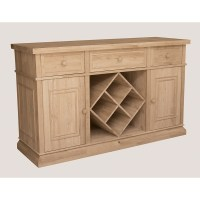 sturbridge buffet with wine rack