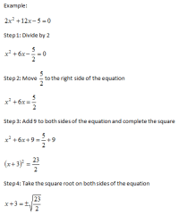Completing the Square | Free Homework Help