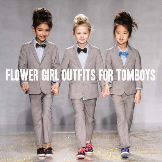 Roundup Tomboy Flower Girl Outfits A Practical Wedding