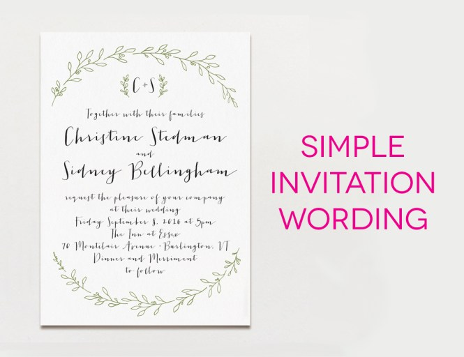 Wedding Invitations Samples Wording