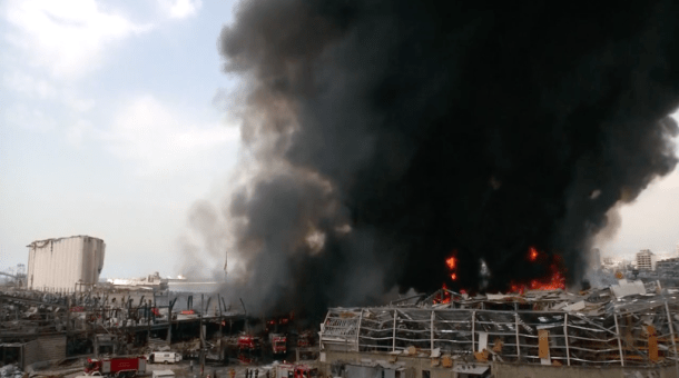New fire erupts in Beirut port area (Reuters)