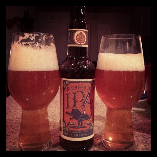 My boo got me IPA glasses as an early birthday present! 🍻🎂 #bestboo @odellbrewing #drinkandspoon #beerporn #craftbeercommunity #instagood #instabeer #ipa