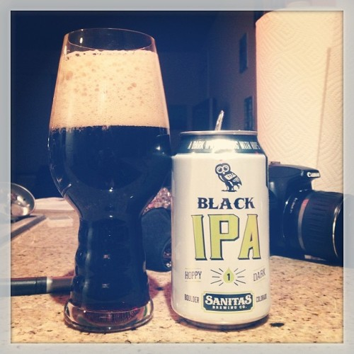"Last night's drink of choice: Black IPA by @sanitasbrewing - like the can says, it's ""dripping in hops"" #drinkandspoon #drink #beer #beerporn #beerstagram #craftbeer #craftbeercommunity #colorado"
