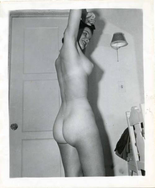 vintage shot of a lovely nude wife. what an ass!
