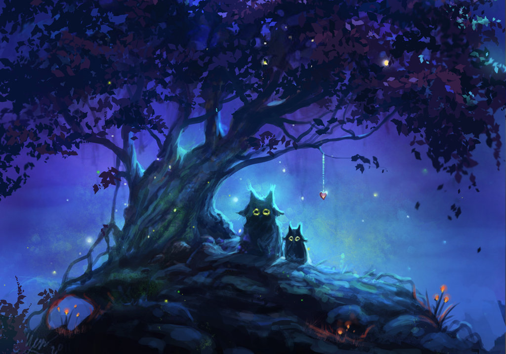 Mystical Creatures In The Fall Wallpaper Art Landscape Nature Deviantart Photo Set Paintings