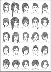 drawing art hair girl female style