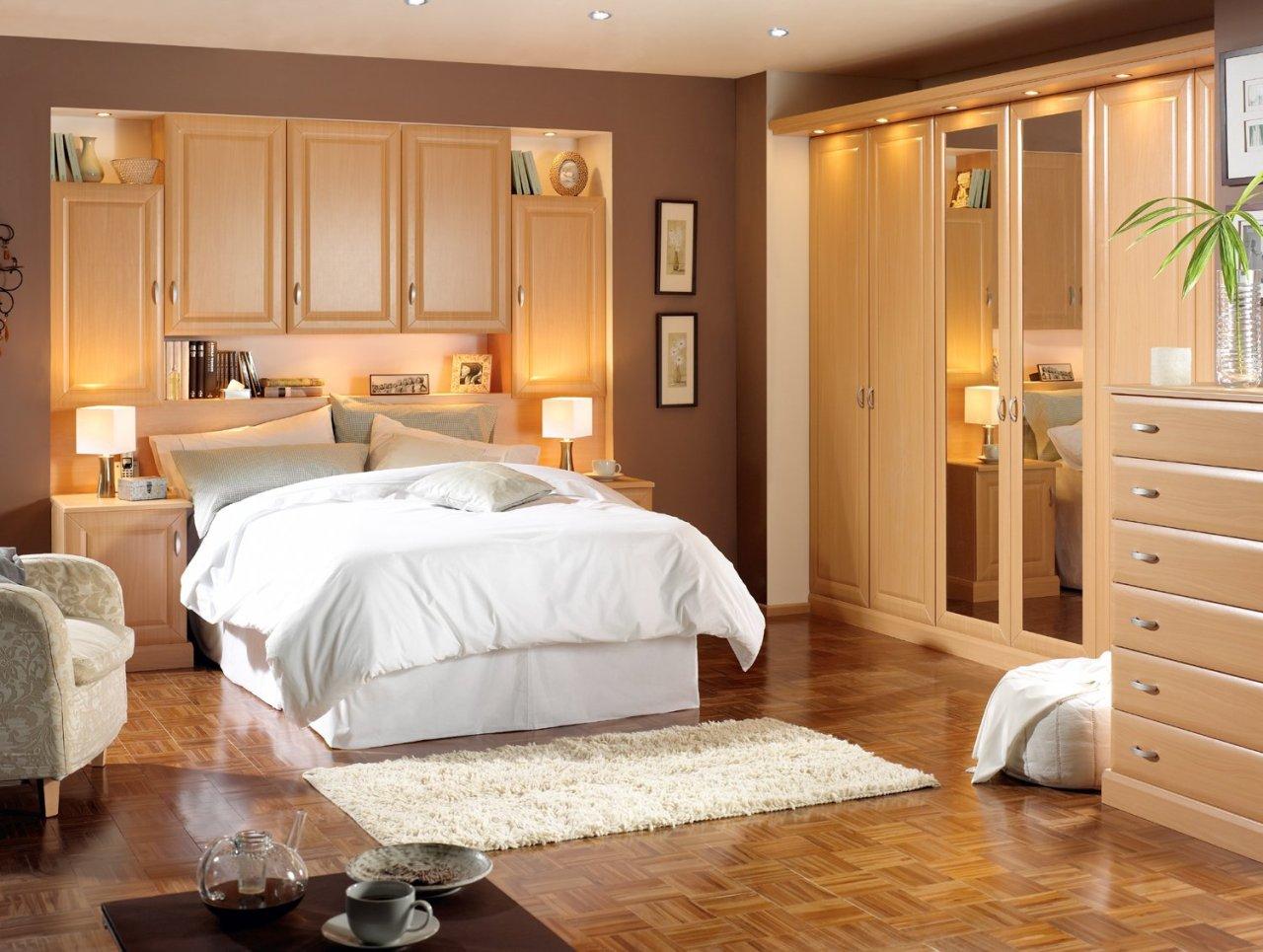 Modern clean bedroom