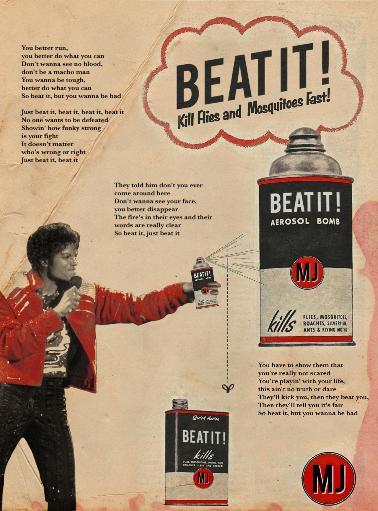 Beat it / Michael Jackson © Ads Libitum :facebook/tumblr/behance