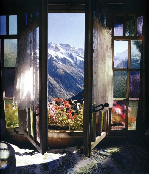 antepodes:</p> <p>guavafairys:</p> <p>green-shoot:</p> <p>knowhereland:</p> <p>Imagine opening your window<br /> and being able to look out at your fantasy.<br /> Blue sky, white-capped mountains,<br /> and colorful flowers.<br /> Everything available in abundance<br /> and with pleasure.<br /> Who's ready to find this place?<br /> I am.