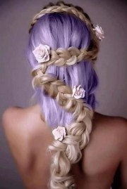 hairstyles dyed hair braids coloured