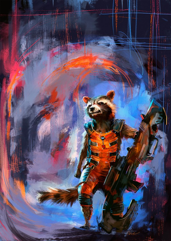 Geek Art Posters Rocket Raccoon