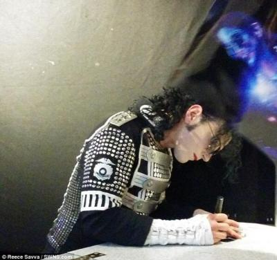 A British teenager is making the claim: Michael Jackson's ghost was at a tribute show.This photo was offered up as proof.. Still not as cool as that exciting that Michael Jackson ghost video from LARRY KING LIVE, but we'll take it. We want to believe..