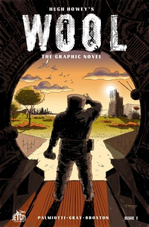 We're proud to announce that you can now buy Jet City Comics on comiXology.com! The first release from Jet City is WOOL #1 based off the best-selling science fiction novel by Hugh Howey, adapted for comics by Jimmy Palmiotti and Justin Gray, with art by Jimmy Broxton. WOOL is the story of mankind clawing for survival, of mankind on the edge. The world outside has grown unkind, the view of it limited, talk of it forbidden. But there are always those who hope, who dream. These are the dangerous people, the residents who infect others with their optimism. Their punishment is simple. They are given the very thing they profess to want: They are allowed outside. Explore the Silo in WOOL #1 from Jet City Comics!