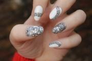 #versace #nail #art heart