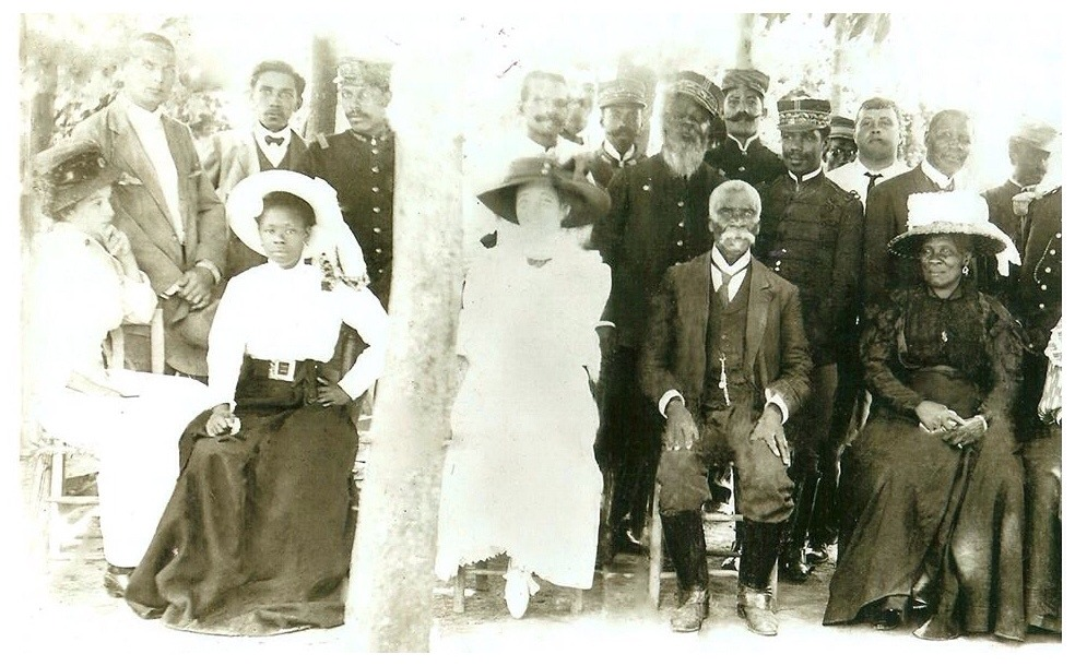 Daughter and Wife of President Antoine Simon.  Haiti c.1910Vanésila Simon(L) & Uranie Adélaïde Mentor(R)