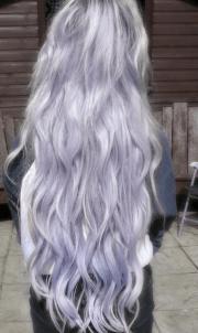 long hair pastel lilac