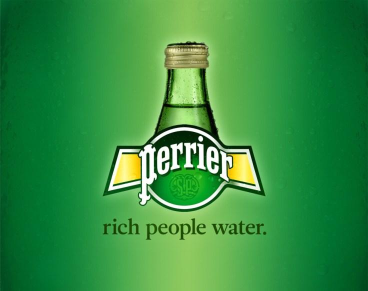 PERRIER : l'eau des gens riches