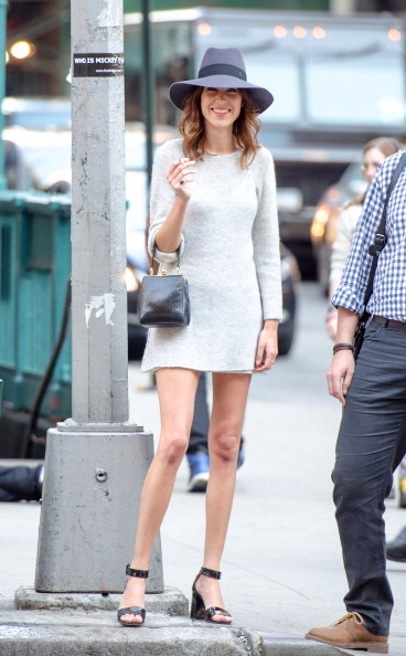 livefastdiechung:  Alexa Chung arrives at FIT's The Future Of Fashion Runway Show at The Fashion Institute of Technology on May 1, 2014 in New York City.