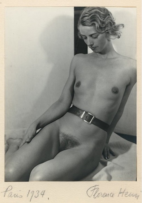 balayantra:  Florence Henri – Honor, 1934  Minimalist lingerie? Lovely flat-chested model.